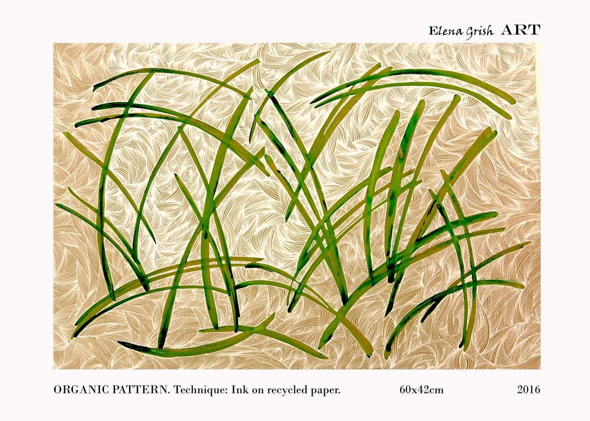 Organic Pattern. Painting.