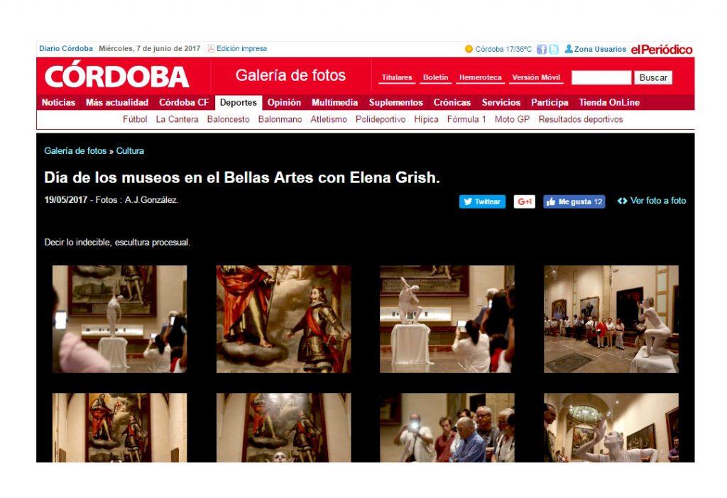 3DECIR LO INDECIBLE ELENA GRISH ART_MUSEO DE BELLAS ARTES CORDOBA_ESCULTURA PROCESUAL_PERFORMANCE_DIARIO CORDOBA