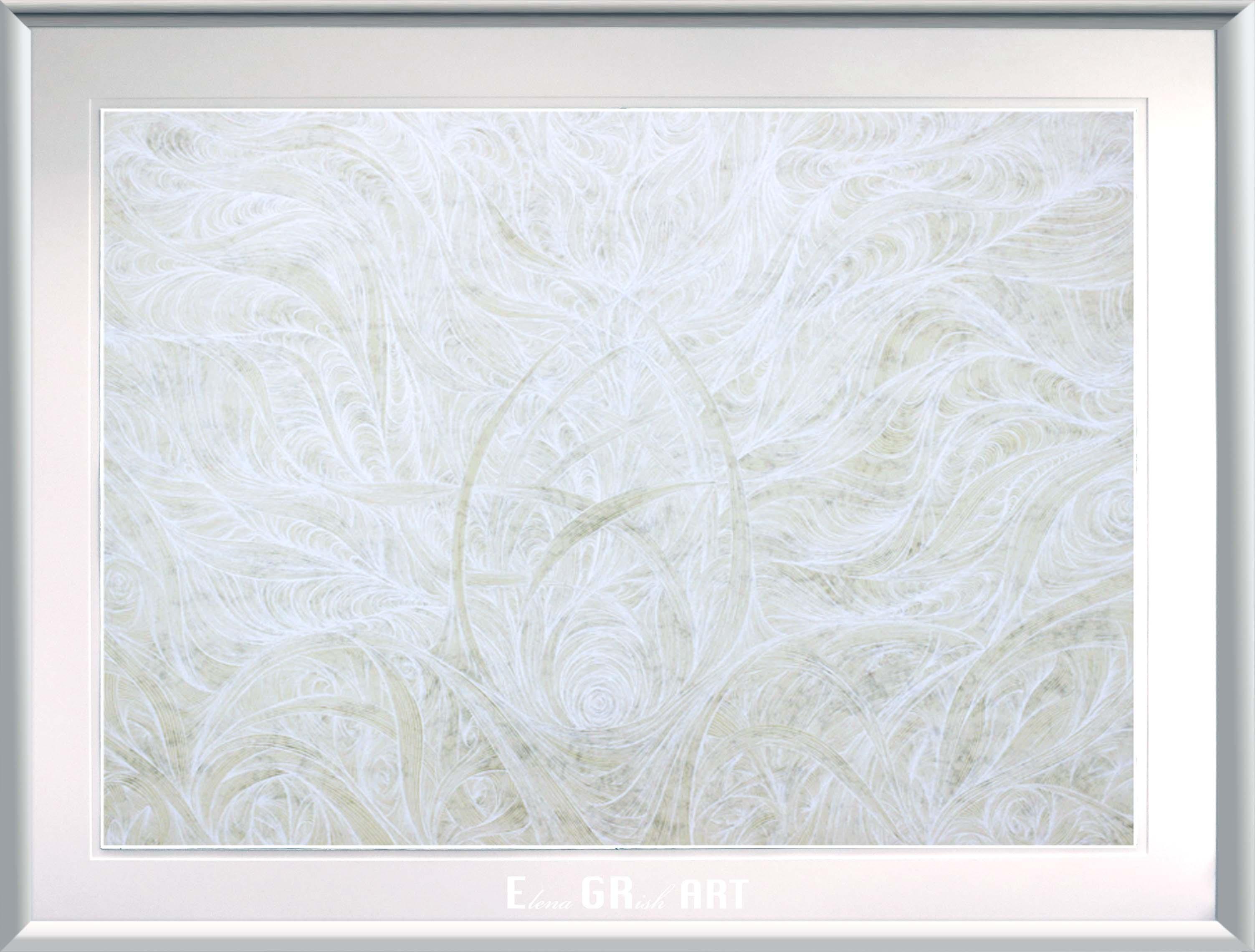 BLANCO_white . essence_painting_ink_elenagrish_art