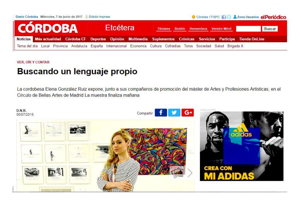 BUSCANDO UN LENGUAJE PROPIO ELENA GRISH ART_DIARIO CORDOBA