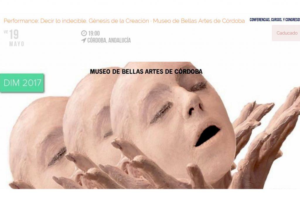 CARTELARIA_DECIR LO INDECIBLE GÉNESIS DE LA CREACION_ELENA GRISH ART_MUSEO BELLAS ARTES DE CORDOBA
