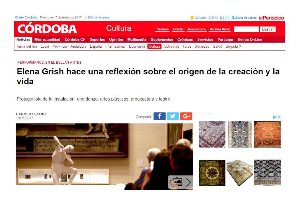 DECIR LO INDECIBLE ELENA GRISH A2RT_MUSEO DE BELLAS ARTES CORDOBA_ESCULTURA PROCESUAL_PERFORMANCE_DIARIO CORDOBA