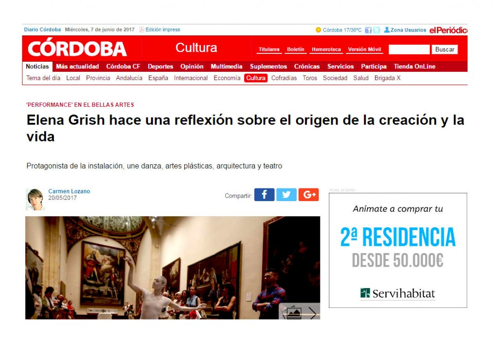 DECIR LO INDECIBLE ELENA GRISH ART_MUSEO DE BELLAS ARTES CORDOBA_ESCULTURA PROCESUAL_PERFORMANCE_DIARIO CORDOBA