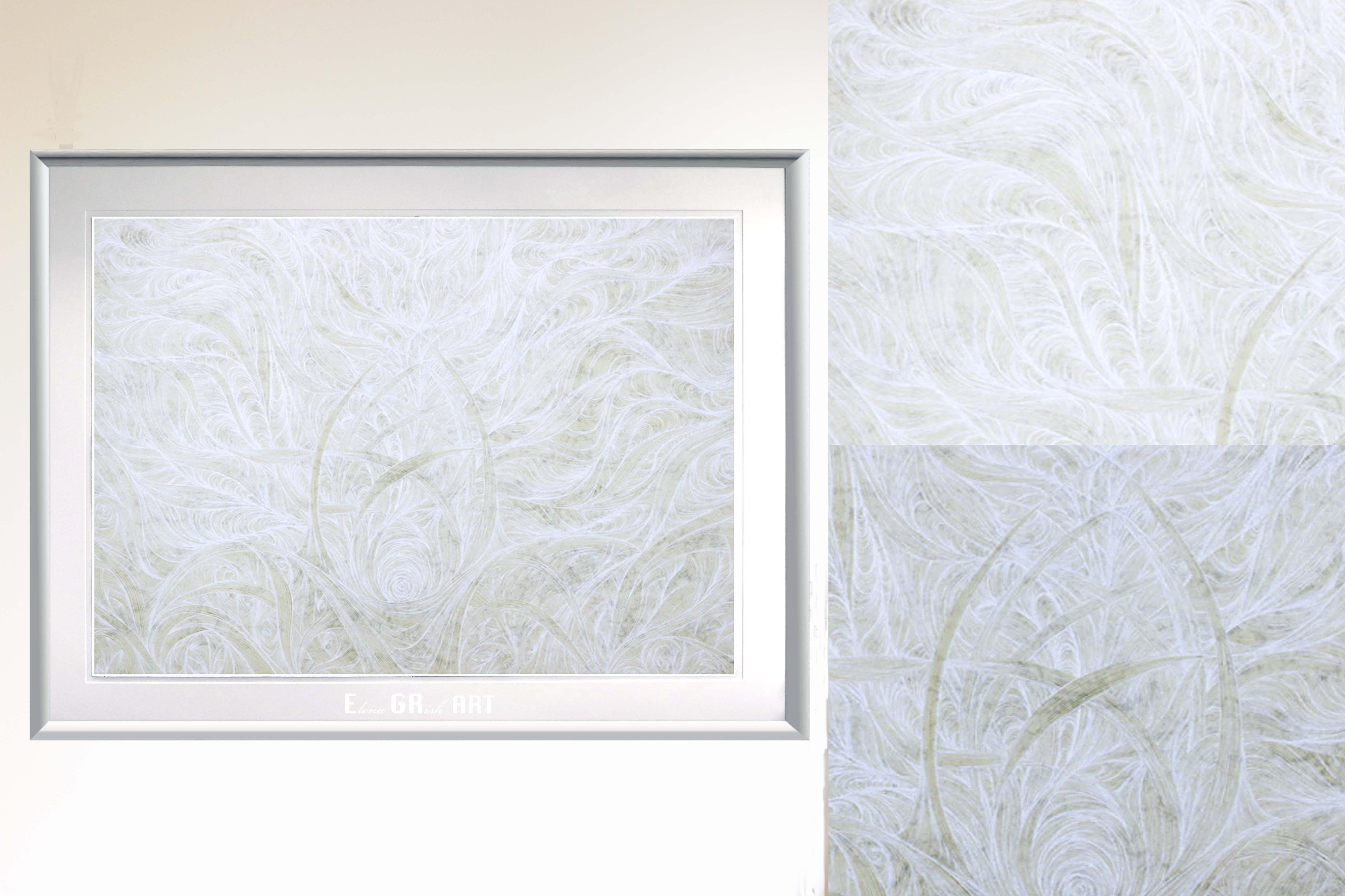 invisible BLANCO_white . essence_painting_ink_elenagrish_art