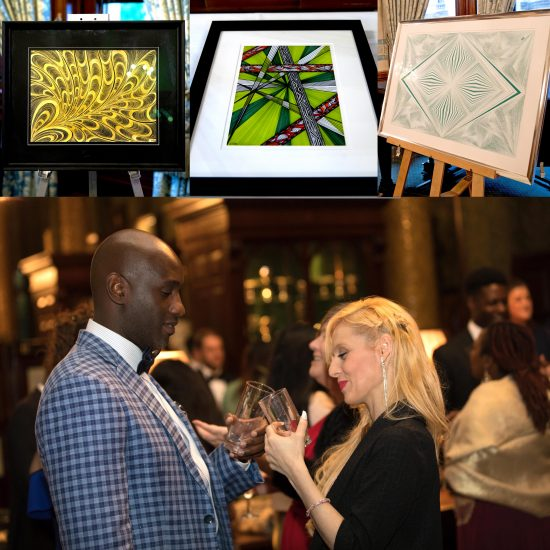 3 paintings_charity auction_liberal club_london